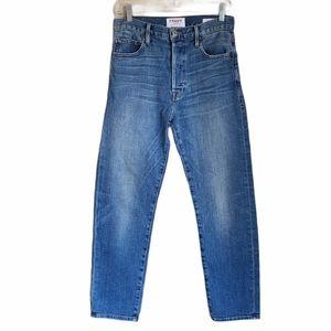 frame le original high waisted straight leg jeans
